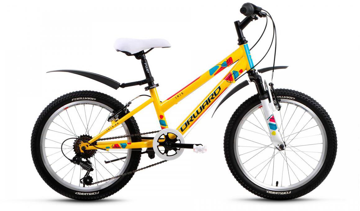 Велосипед детский Forward Iris 2017, цвет: желтый, рама 10,5, колесо 20279940