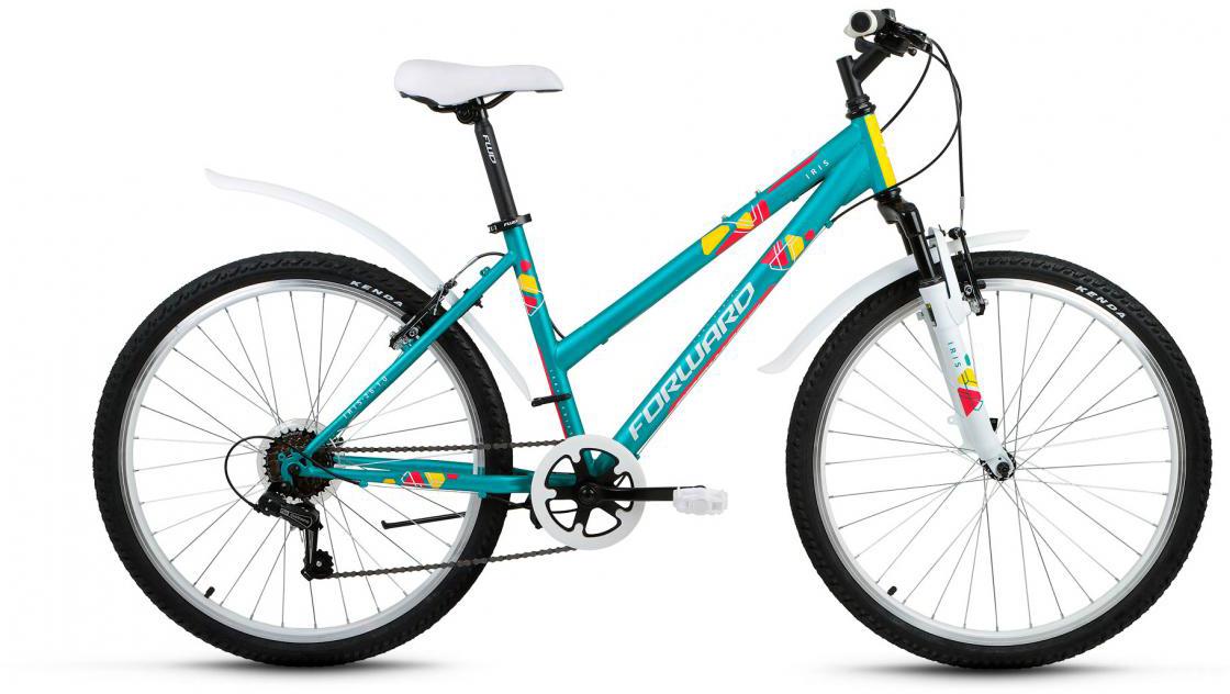 Велосипед горный Forward Iris 1.0 2017, цвет: зеленый, рама 17, колесо 26 велосипед forward iris 26 1 0 2017