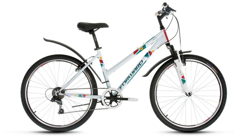 Велосипед горный Forward Iris 1.0 2017, цвет: белый, рама 17, колесо 26 велосипед forward iris 26 1 0 2017