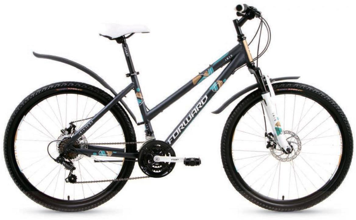 Велосипед горный Forward Iris 2.0 2017, цвет: серый, рама 17, колесо 26 велосипед forward iris 26 1 0 2017