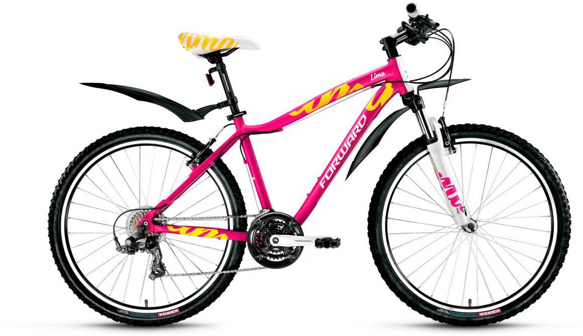Велосипед горный Forward Lima 1.0 2017, цвет: розовый, рама 15, колесо 26279951