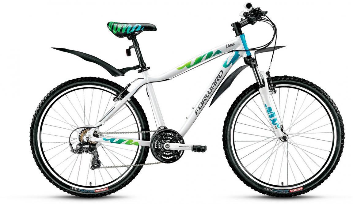 Велосипед горный Forward Lima 1.0 2017, цвет: белый, рама 17, колесо 26279954