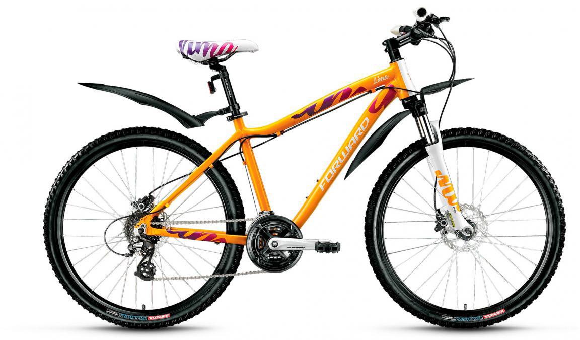 Велосипед горный Forward Lima 3.0 2017, цвет: оранжевый, рама 17, колесо 26279962