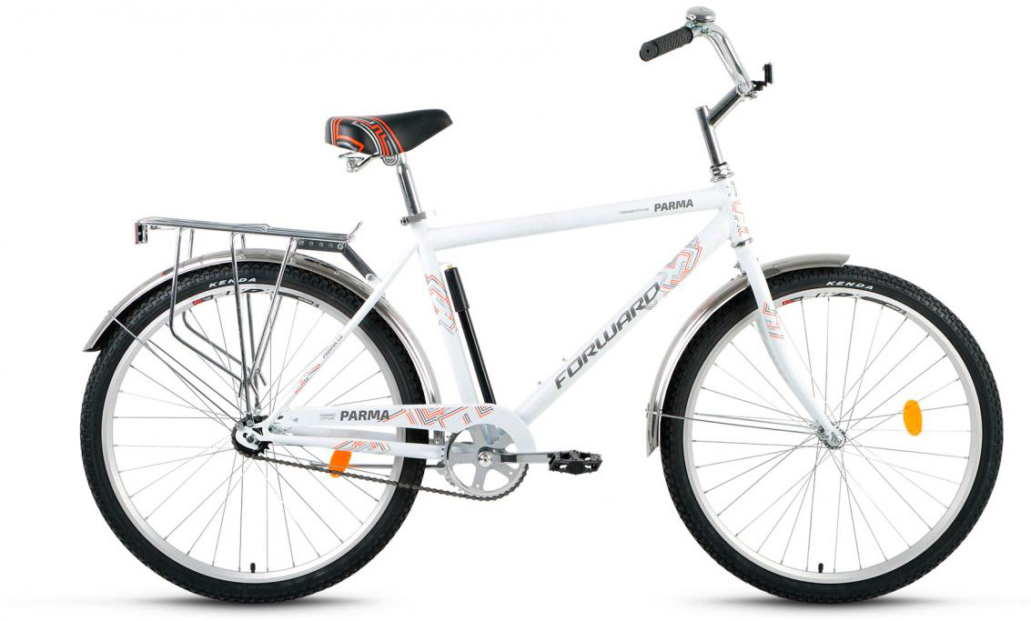 Велосипед городской Forward Parma 1.0 2017, цвет: белый, рама 18,5, колесо 26 forward parma 2 0 2017