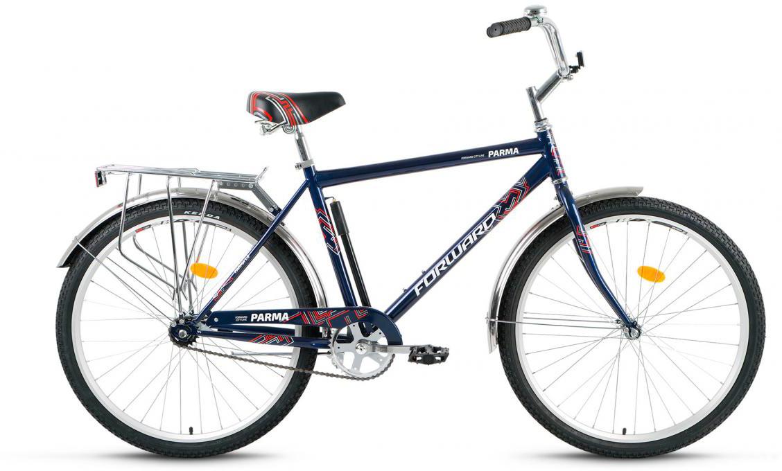 Велосипед городской Forward Parma 1.0 2017, цвет: синий, рама 18,5, колесо 26 forward parma 2 0 2017
