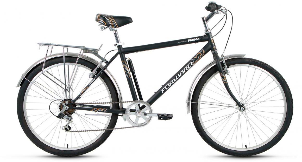 Велосипед городской Forward Parma 2.0 2017, цвет: черный, рама 18,5, колесо 26 forward parma 2 0 2017