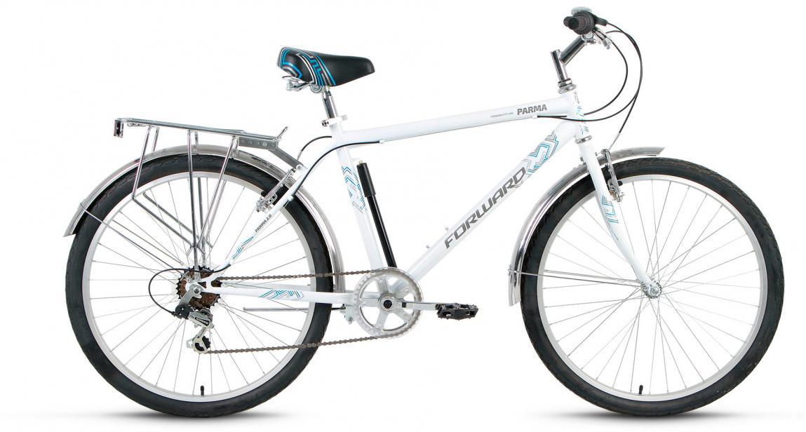 Велосипед городской Forward Parma 2.0 2017, цвет: белый, рама 18,5, колесо 26 forward parma 2 0 2017