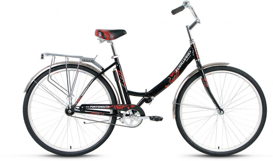 Велосипед городской Forward Portsmouth 1.0 2017, цвет: черный, рама 19, колесо 28280003