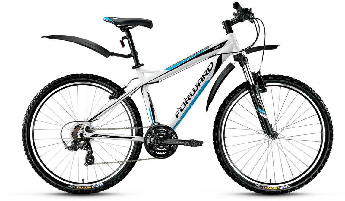 Велосипед горный Forward Quadro 1.0 2017, цвет: белый, рама 17, колесо 26280007