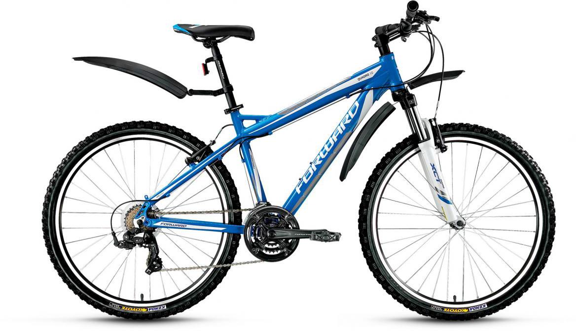 Велосипед горный Forward Quadro 1.0 2017, цвет: синий, рама 17, колесо 26280010