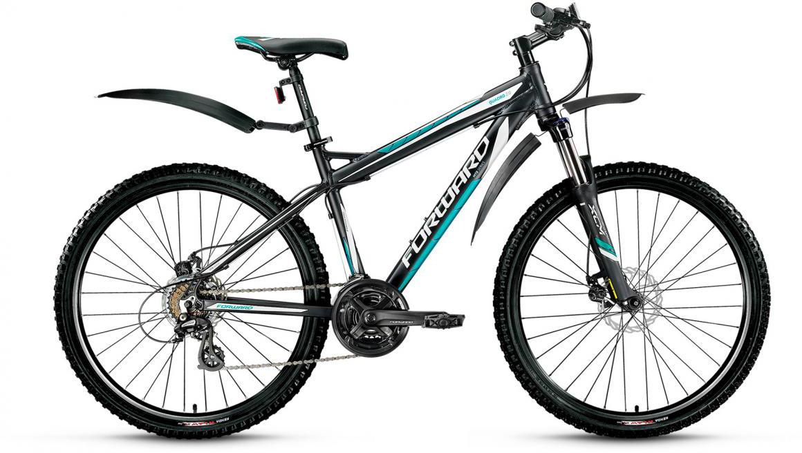 Велосипед горный Forward Quadro 2.0 2017, цвет: черный, рама 19, колесо 26280016