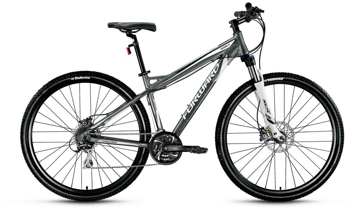 Велосипед горный Forward Quadro 3.0 2017, цвет: серый, рама 19, колесо 29280018
