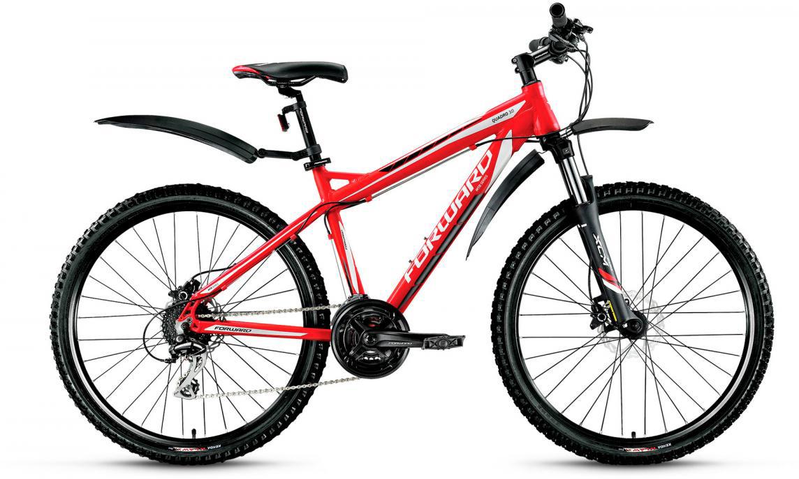 Велосипед горный Forward Quadro 3.0 2017, цвет: красный, рама 17, колесо 26280021