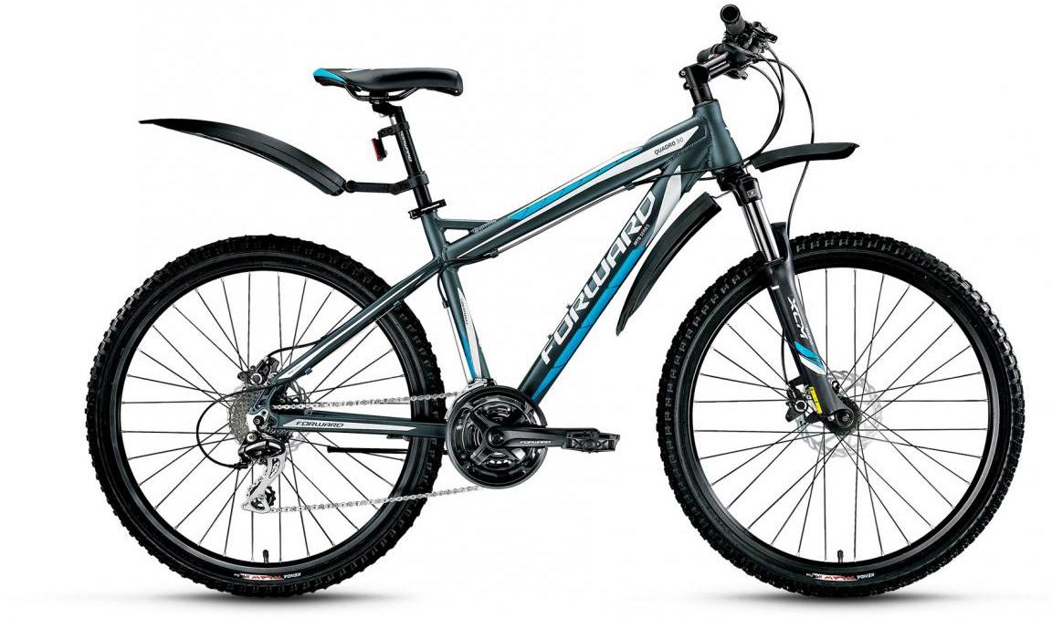 Велосипед горный Forward Quadro 3.0 2017, цвет: серый, рама 19, колесо 26280024