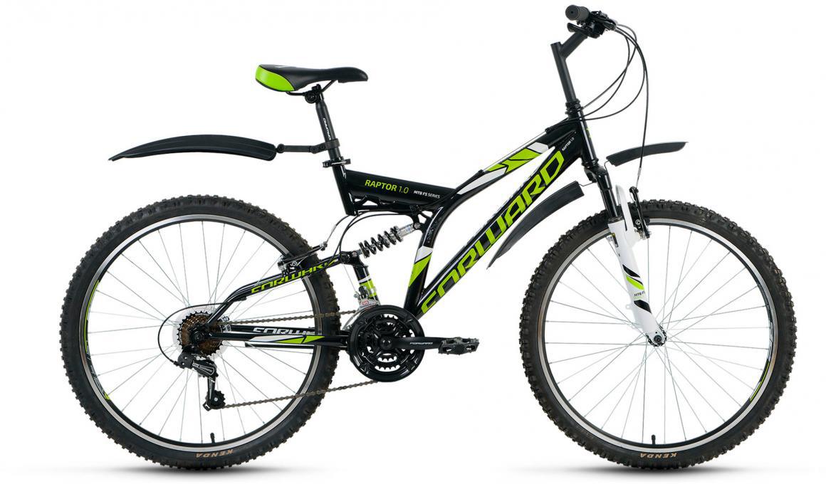 Велосипед горный Forward Raptor 1.0 2017, цвет: черный, рама 18, колесо 26 велосипед forward raptor 2 0 disc 26 21 ск рост 16 2013 2014 черный rbkw4sn6q014
