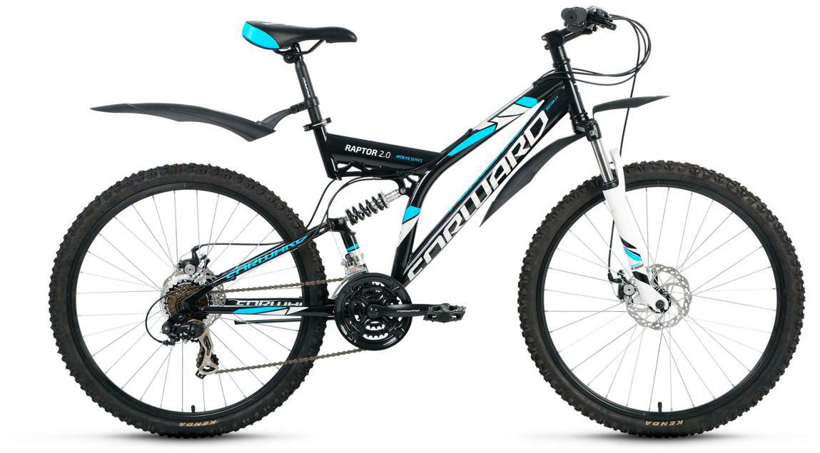 Велосипед горный Forward Raptor 2.0 2017, цвет: черный, рама 16, колесо 26 велосипед forward raptor 2 0 disc 26 21 ск рост 16 2013 2014 черный rbkw4sn6q014