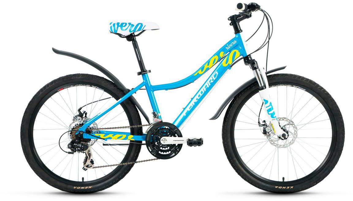 Велосипед детский Forward Rivera 2.0 2017, цвет: голубой, рама 14, колесо 24280036