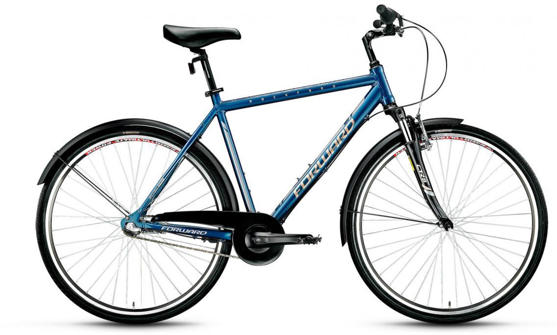 Велосипед городской Forward Rockford 2.0 2017, цвет: синий, рама 19,5, колесо 28280041