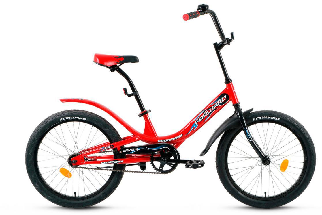 Велосипед детский Forward Scorpions 1.0 2017, цвет: красный, рама 10,5, колесо 20280045
