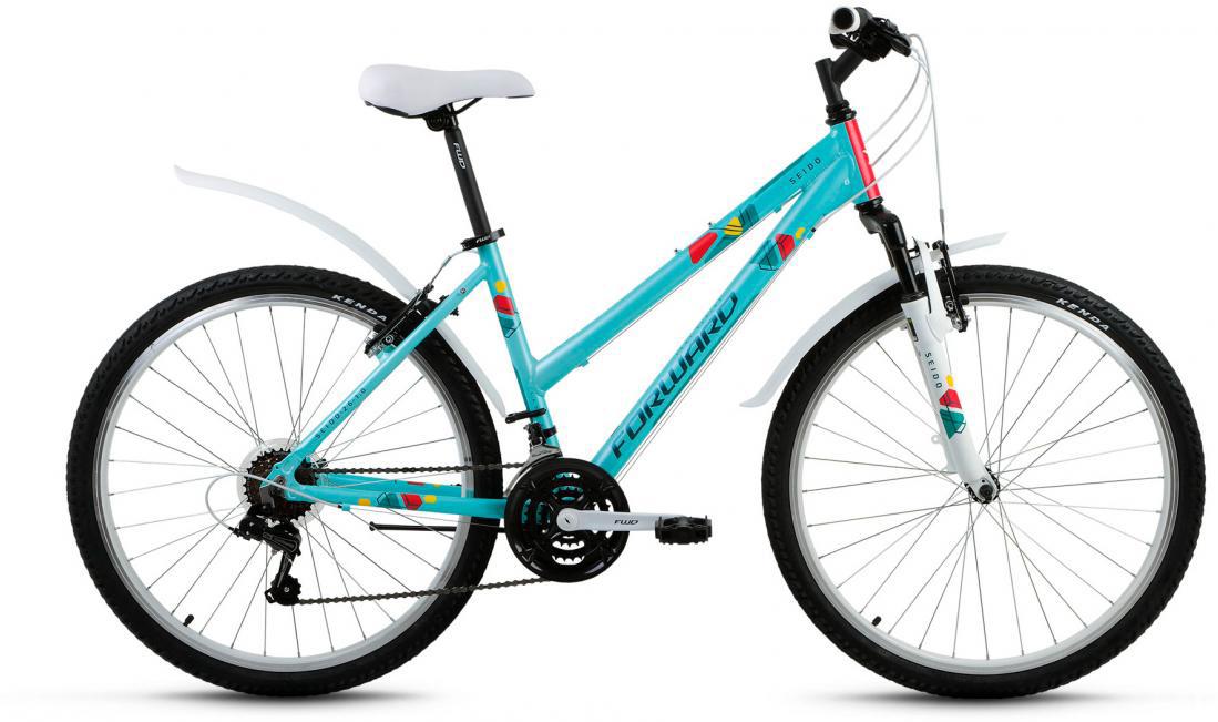 Велосипед горный Forward Seido 1.0 2017, цвет: зеленый, рама 17, колесо 26280051