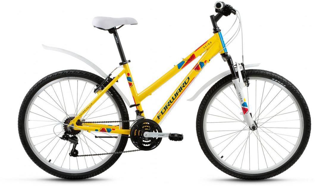 Велосипед горный Forward Seido 1.0 2017, цвет: желтый, рама 17, колесо 26280053