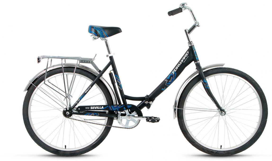 Велосипед складной Forward Sevilla 1.0 2017, цвет: черный, рама 18,5, колесо 26280058