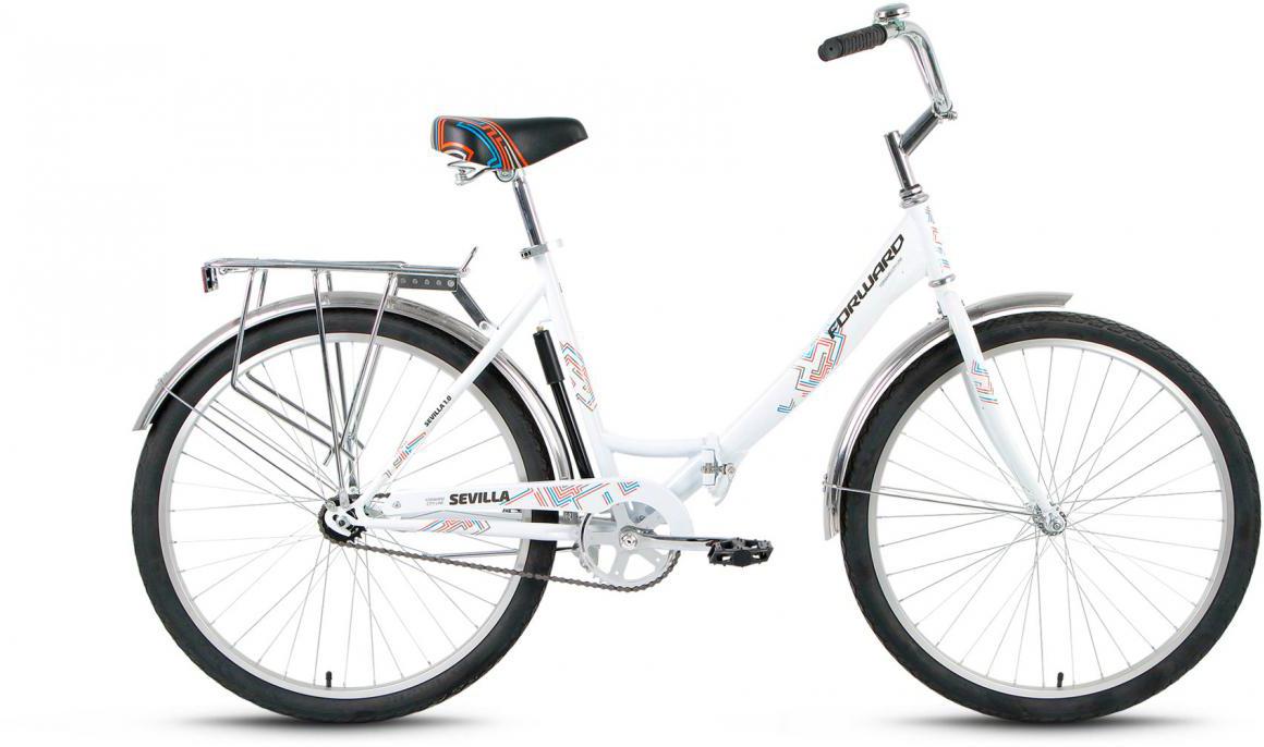 Велосипед складной Forward Sevilla 1.0 2017, цвет: белый, рама 18,5, колесо 26 велосипед forward sevilla 3 0 2017