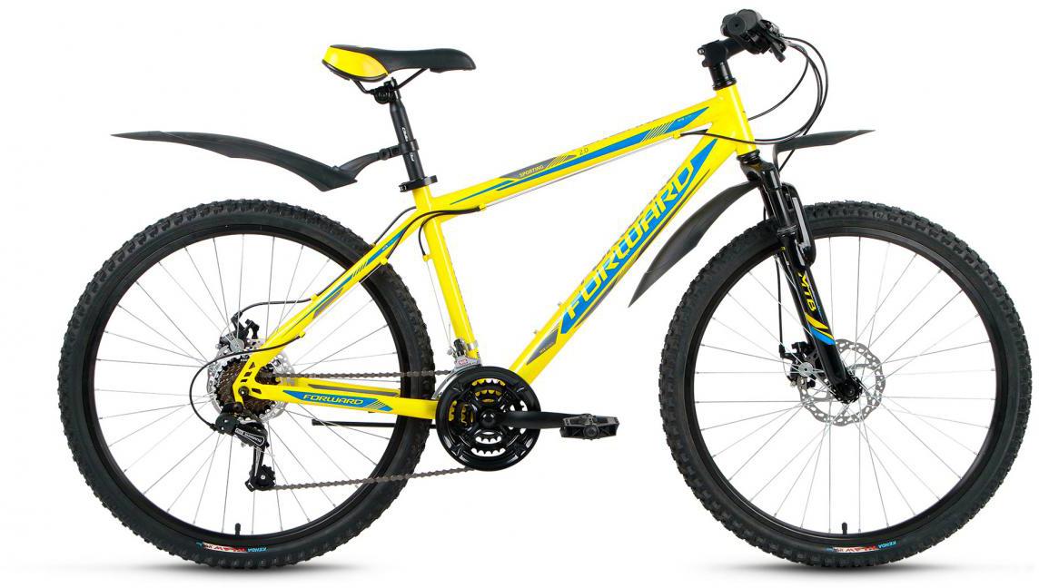 Велосипед горный Forward Sporting 2.0 2017, цвет: желтый, рама 17, колесо 26280081