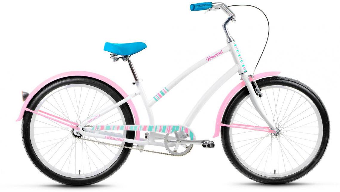 Велосипед городской Forward Surf Lady 1.0 2017, цвет: белый, рама 15, колесо 26280084