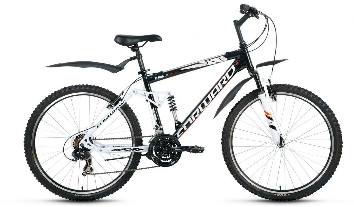Велосипед горный Forward Terra 1.0 2017, цвет: черный, рама 18, колесо 26 велосипед forward terra 2 0 disc 18 2017 black white