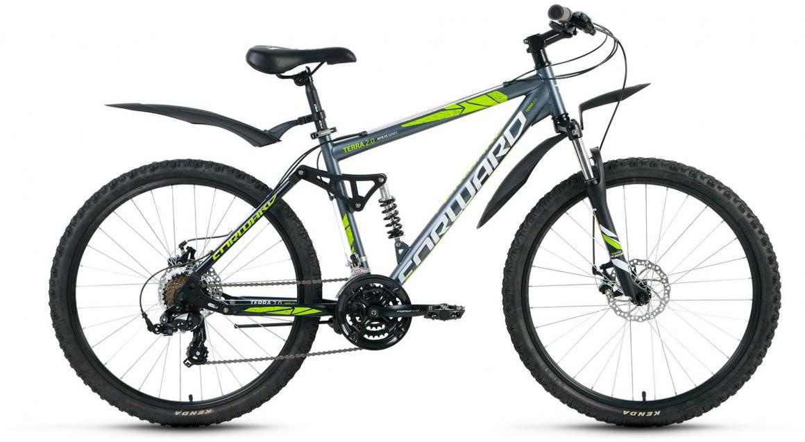 Велосипед горный Forward Terra 2.0 2017, цвет: серый, рама 18, колесо 26 велосипед forward terra 2 0 disc 18 2017 black white