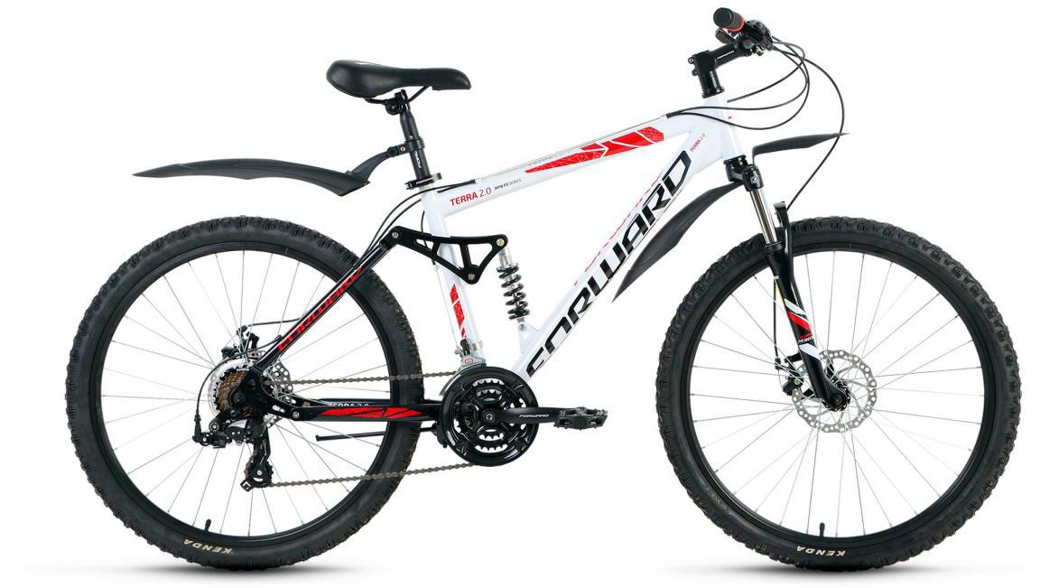 Велосипед горный Forward Terra 2.0 2017, цвет: белый, рама 18, колесо 26 велосипед forward terra 2 0 disc 18 2017 black white