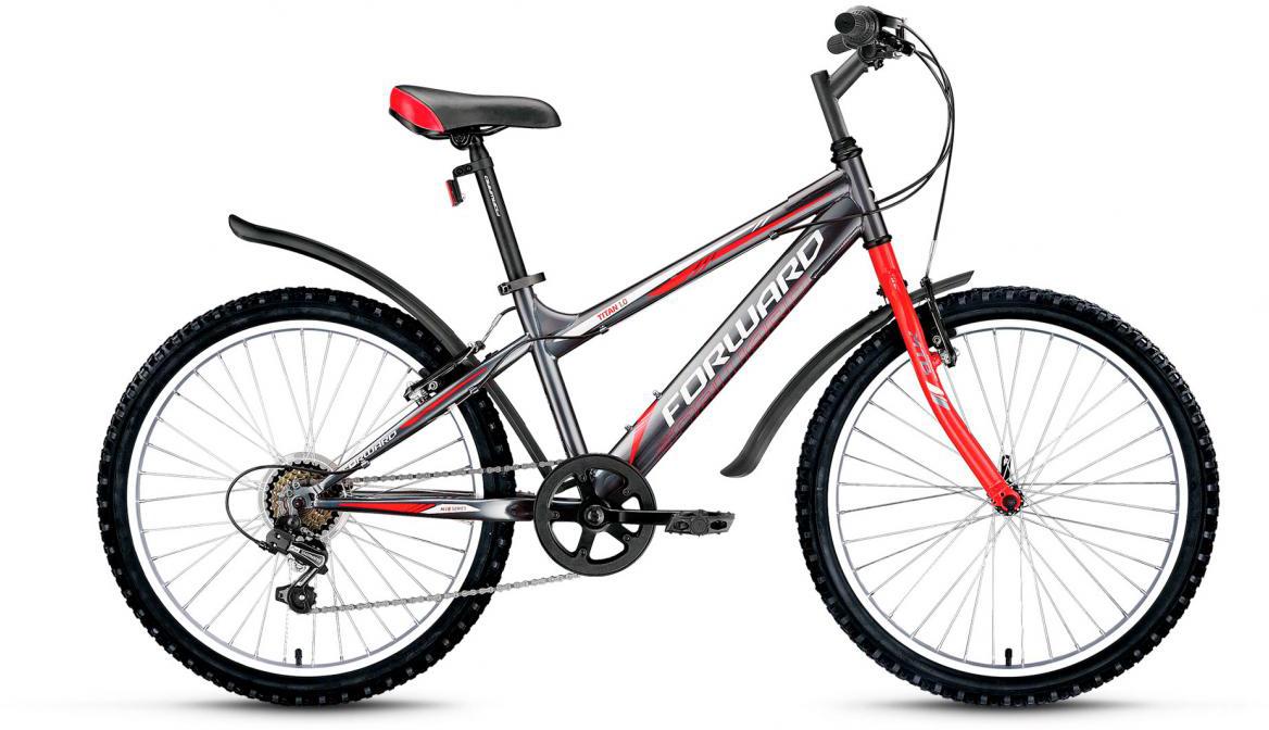 Велосипед детский Forward Titan 1.0 2017, цвет: серый, рама 14, колесо 24280102