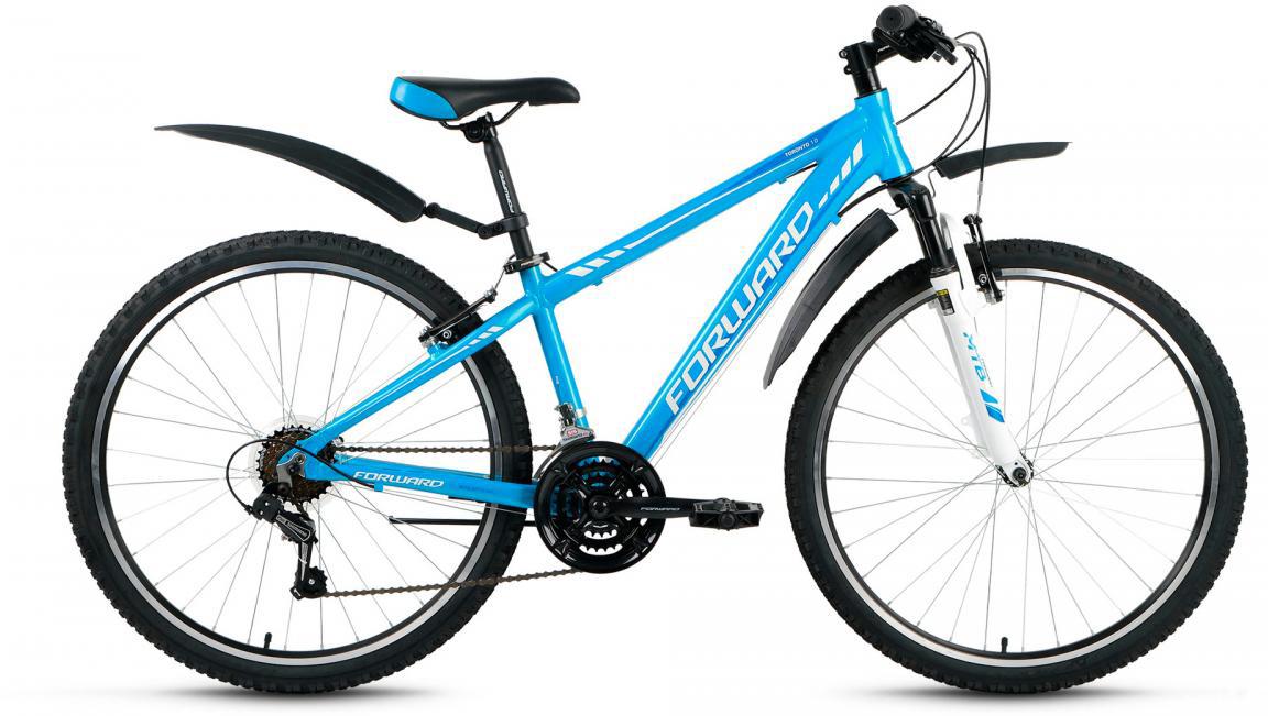Велосипед горный Forward Toronto 1.0 2017, цвет: голубой, рама 14, колесо 26280111