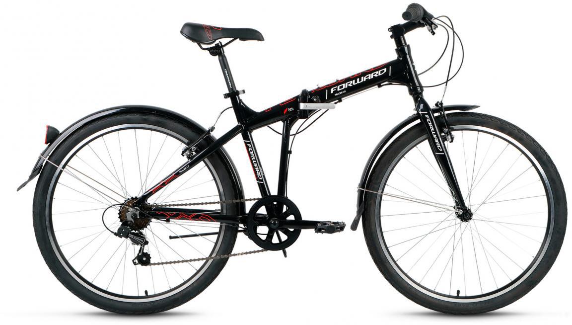 Велосипед складной Forward Tracer 1.0 2017, цвет: черный, рама 19, колесо 26280115