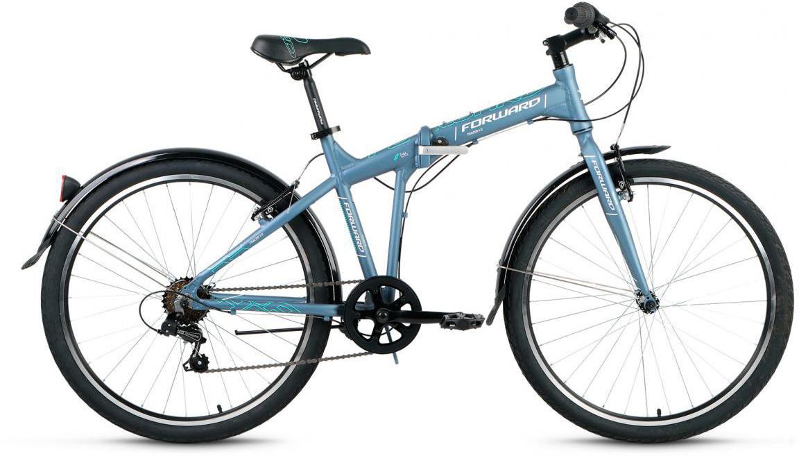 Велосипед складной Forward Tracer 1.0 2017, цвет: серый, рама 19, колесо 26280117