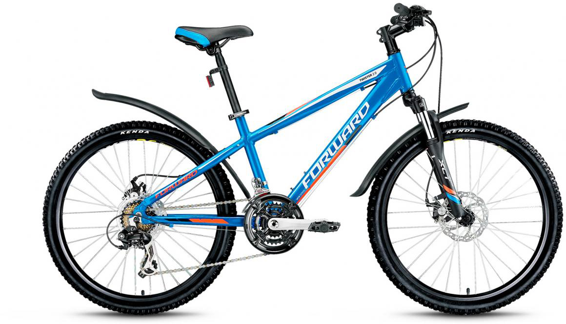 Велосипед детский Forward Twister 2.0 2017, цвет: синий, рама 14, колесо 24280129