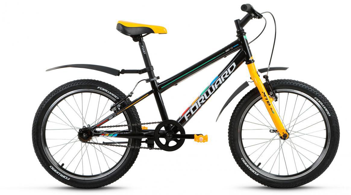 Велосипед детский Forward Unit 1.0 2017, цвет: черный, рама 10,5, колесо 20280130