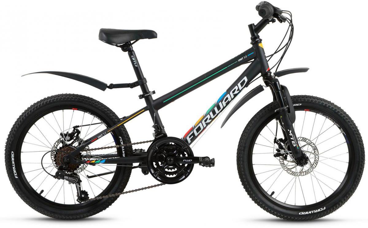 Велосипед детский Forward Unit 3.0 2017, цвет: черный, рама 10,5, колесо 20280134