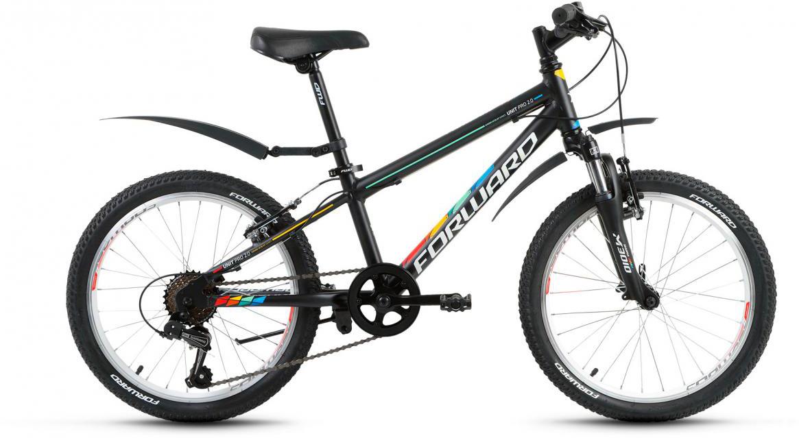 Велосипед детский Forward Unit Pro 2.0 2017, цвет: черный, рама 10,5, колесо 20280135