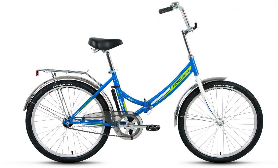 Велосипед детский Forward Valencia 1.0 2017, цвет: синий, рама 16, колесо 24280139