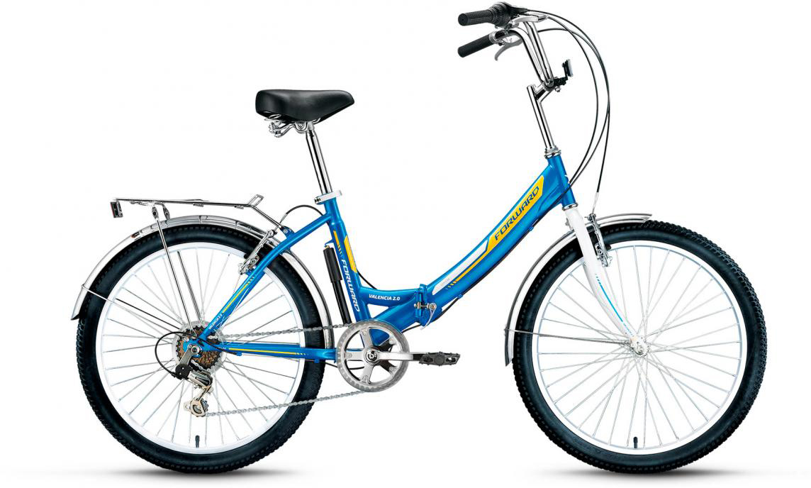 Велосипед детский Forward Valencia 2.0 2017, цвет: синий, рама 16, колесо 24280141