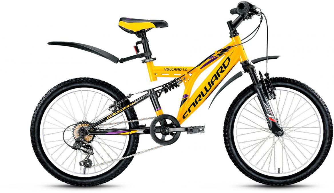 Велосипед детский Forward Volcano 1.0 2017, цвет: желтый, рама 13, колесо 20 volcano