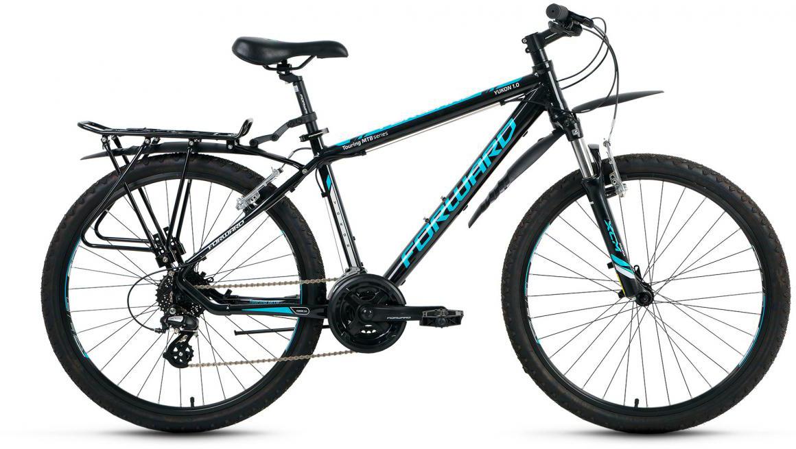 Велосипед горный Forward Yukon 1.0 2017, цвет: черный, рама 19, колесо 26 yukon woodworth 20х50 бинокль