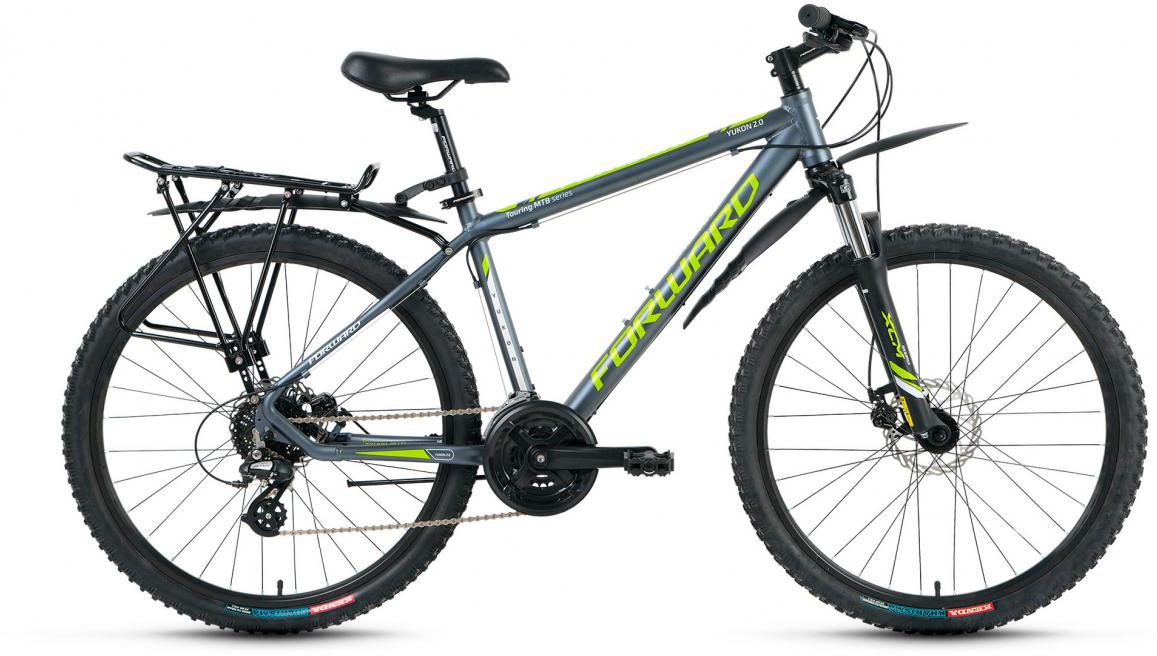 Велосипед горный Forward Yukon 2.0 2017, цвет: серый, рама 21, колесо 26280151