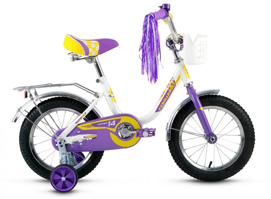 Велосипед детский Forward Racing Girl 2016, цвет: белый, колесо 14282509