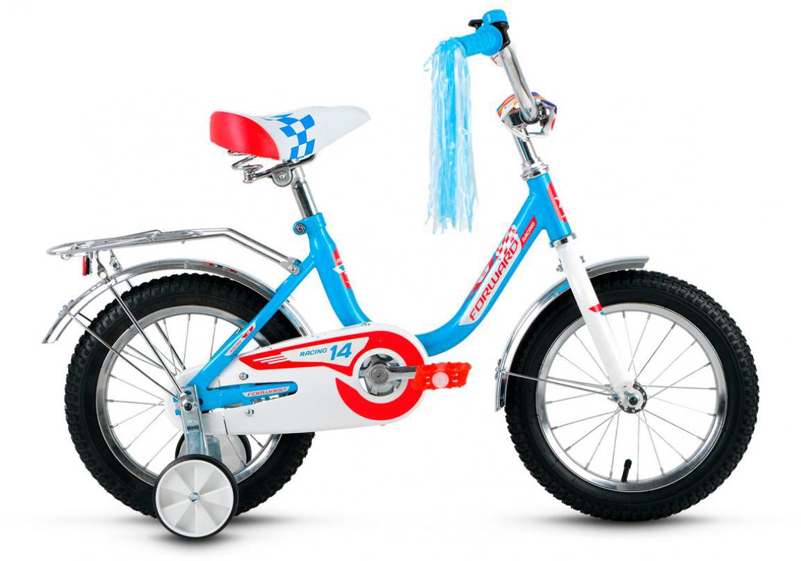 Велосипед детский Forward Racing Girl 2016, цвет: голубой, колесо 14282510