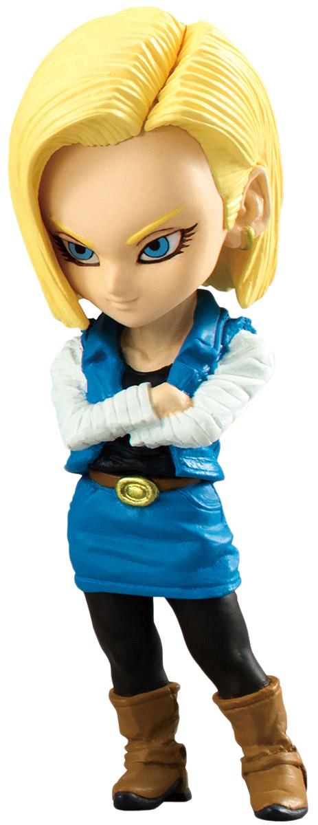 Bandai Фигурка Dragon Ball Adverge Android 18 160mm japanese original anime figure dragon ball buruma action figure collectible model toys for boys