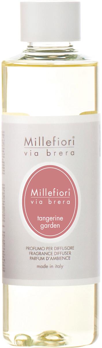 Ароматизатор Millefiori Milano Via Brera, мандариновый сад, сменный блок, 250 мл ароматизатор millefiori milano via brera сандаловое дерево сменный блок 250 мл