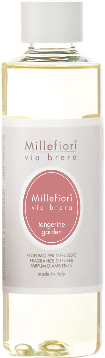 Ароматизатор Millefiori Milano Via Brera, мандариновый сад, сменный блок, 250 мл ароматизатор millefiori milano natural яблоко и корица сменный блок 250 мл